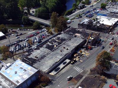Gov. Inslee Surveys Bothell Fire Damage