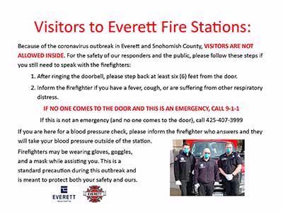 Everett Fire taking extra precautions