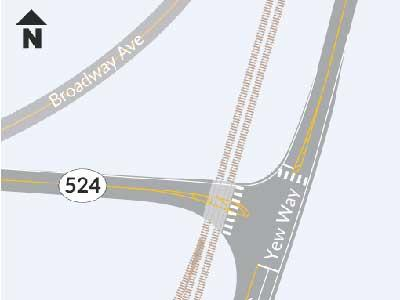 Lane, traffic signals added on SR 524 at Yew Way