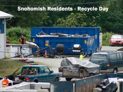Snohomish residents - Recycle Day