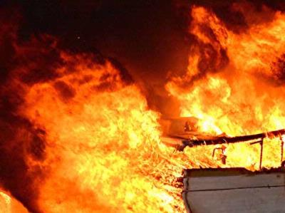Fast moving fire displaces family
