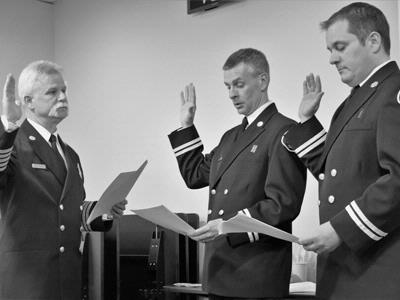 Fire District 7 holds badge pinning ceremony for new Training Captains
