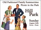 Old Fashion Family Picnic at Hill Park